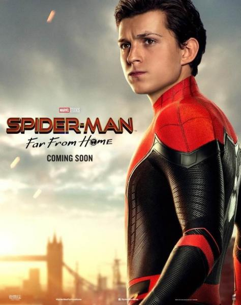 Spider-Man: Far From Home, poster, personaggi