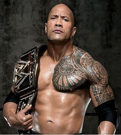Dwayne Johnson lottatore