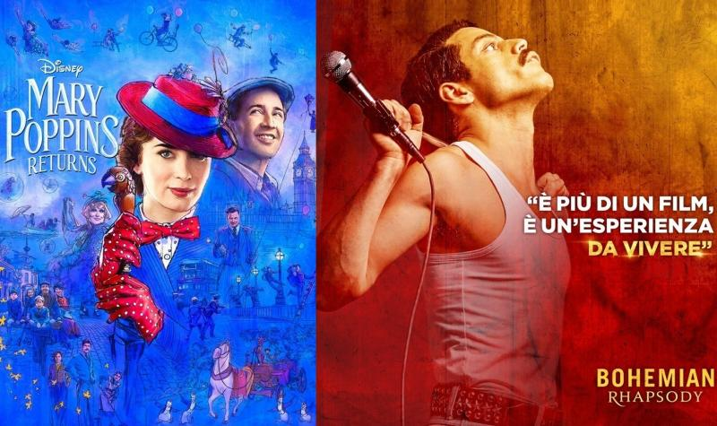 Migliori film incassi, Bohemian Rhapsody, record, Mary Poppins